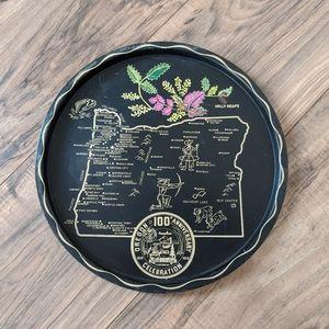 Vintage 1950's Oregon Centennial Souvenir Tray